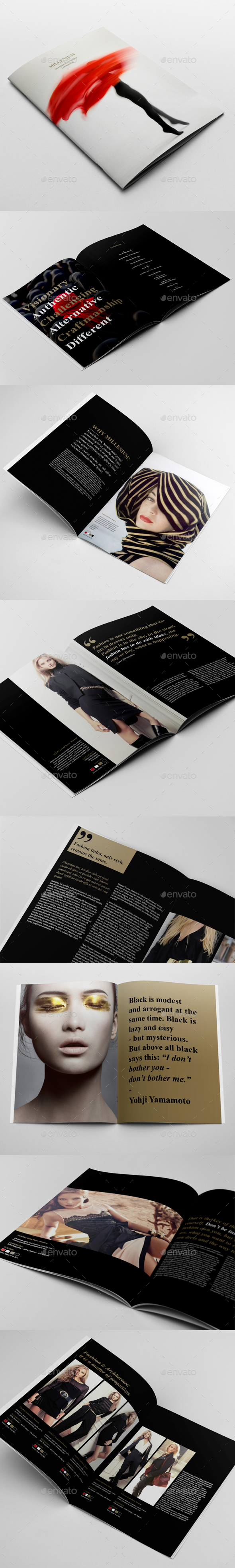 Fashion Catalogue Brochure Template By Andre GraphicRiver - Fashion brochure templates