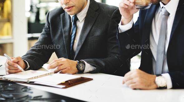Businessmen Meeting Discussion Analysing WritingConcept - Stock Photo - Images