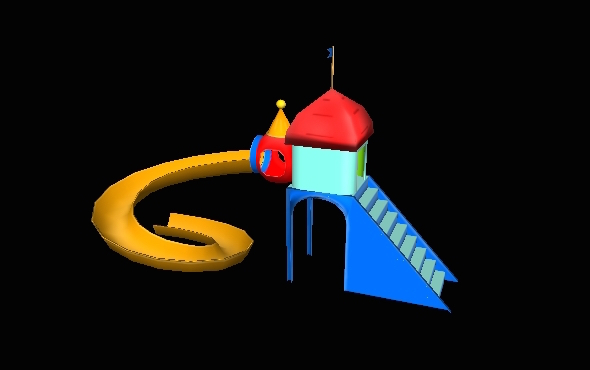 Plastic Garden Slide 2 - 3DOcean Item for Sale