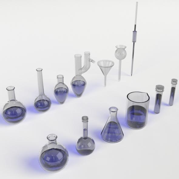 Laboratory Glassware set - 3DOcean Item for Sale
