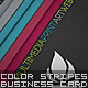 Color StripeS Business Card - GraphicRiver Item for Sale