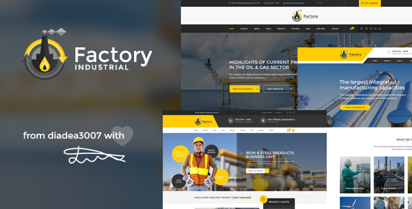 Factory Industrial - Engineering & Industrial PSD Template - Business Corporate