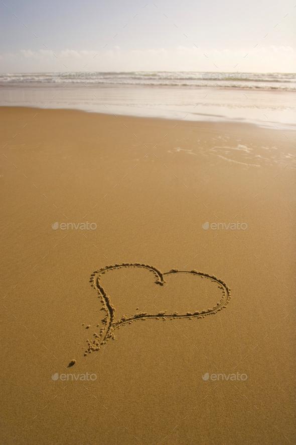 love romantic beach - Stock Photo - Images
