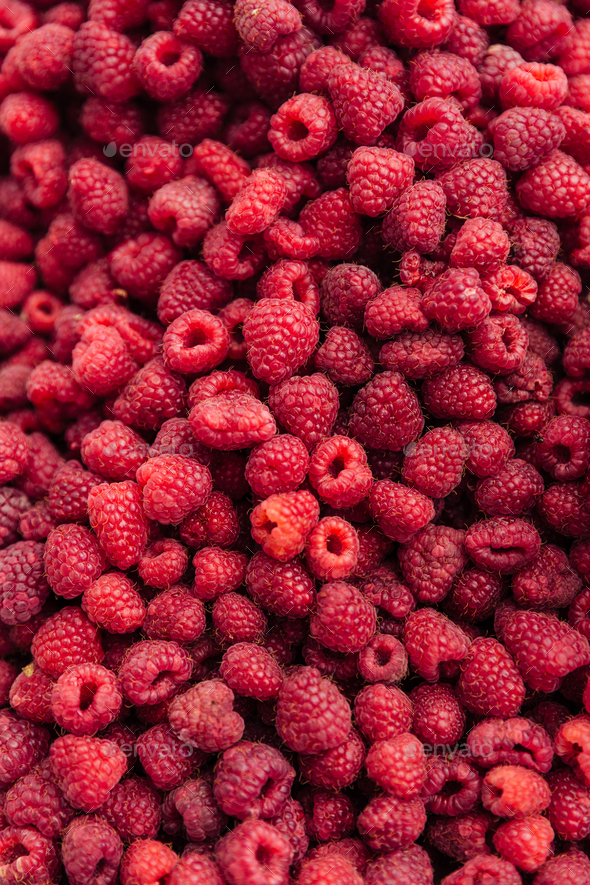 Pile of raspberries - Stock Photo - Images