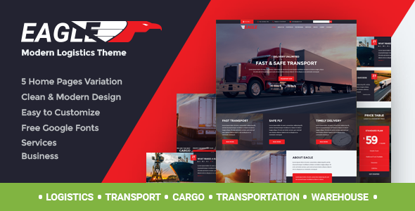 Eagle – Logistics, Cargo & Transportation WordPress Theme