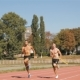 Two Athlets Sprinting At The Stadium - VideoHive Item for Sale