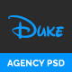 Duke - Agency PSD Template - ThemeForest Item for Sale