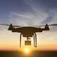 Professional Drone Flying in the Sunset - VideoHive Item for Sale