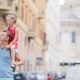 Family In Europe. Happy Father And Little Adorable Girl In Rome During Summer Italian Vacation - VideoHive Item for Sale