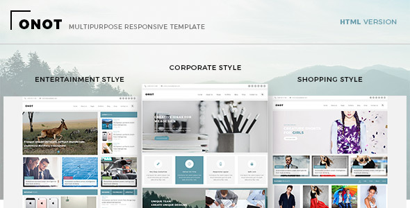 Onot – Multipurpose HTML5 Template