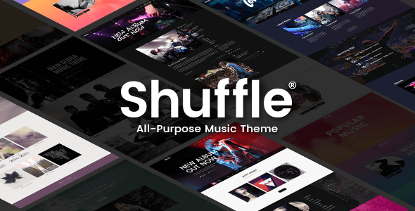 Shuffle - All-Purpose Music Theme with Genre-specific Skins & Homepages - Music and Bands Entertainment