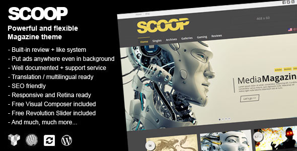 Scoop – A Magazine Theme For WordPress