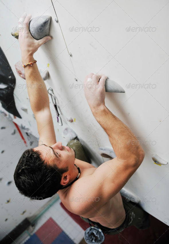 man exercise sport climbing - Stock Photo - Images