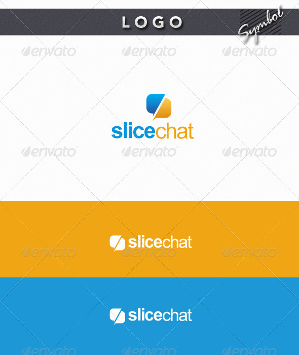 Slice Chat Logo - Symbols Logo Templates