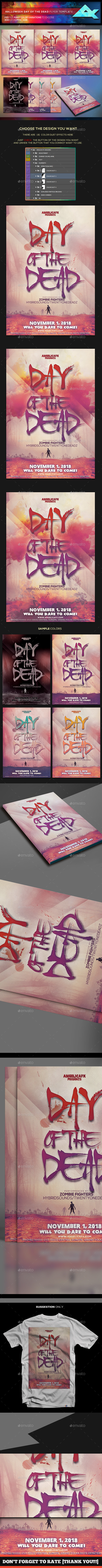 Halloween Day of the Dead Flyer Template