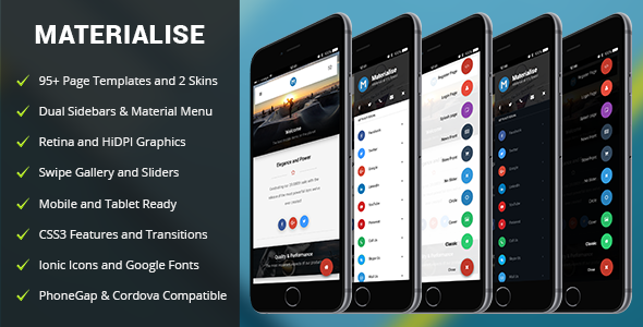Materialise Mobile | Mobile Template