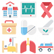 150 Medical and Health Vector Icons - GraphicRiver Item for Sale