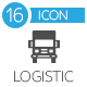 Logistic Flat Icons and Delivery Service Flat Icons - GraphicRiver Item for Sale