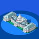 Election Infographic Capitol Dome Vector Isometric Building - GraphicRiver Item for Sale
