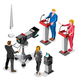 Election News Infographic Live Video Vector Isometric People - GraphicRiver Item for Sale