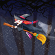 Happy Halloween - Witch Flying - VideoHive Item for Sale
