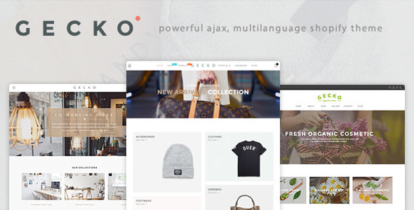 Gecko – Powerful Fashion, Organic Shopify Theme