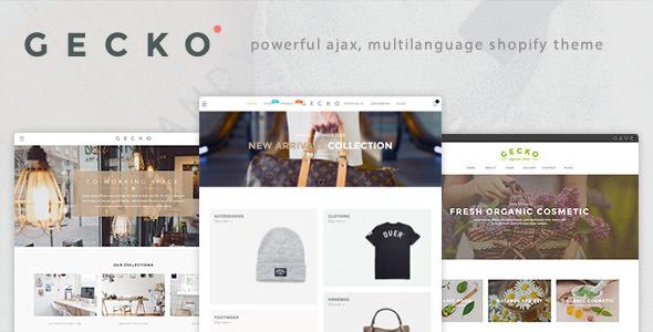Gecko - Powerful Fashion, Organic Shopify Theme