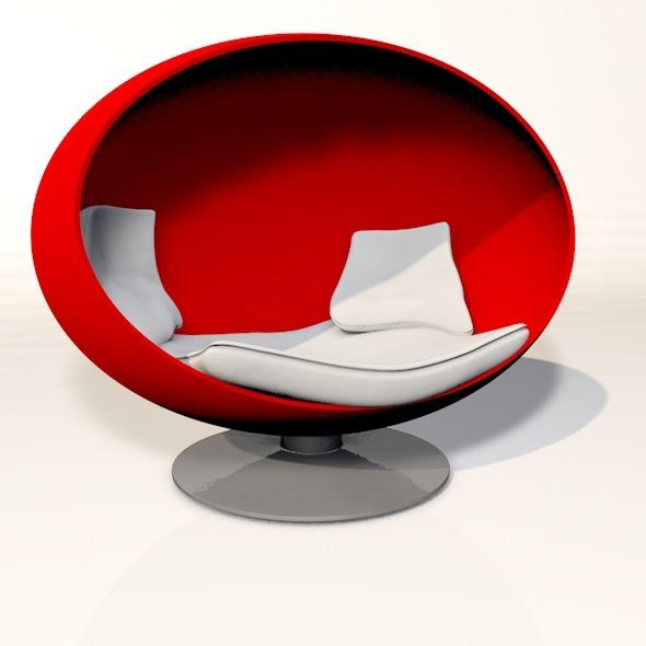 3d Round Chair
