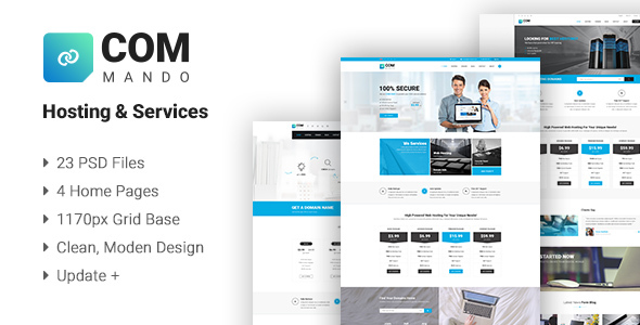Commando Hosting & Services PSD Templates