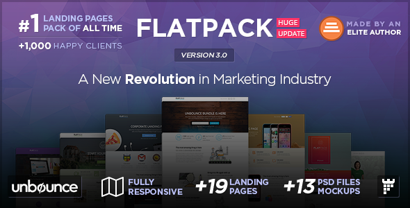 FLATPACK - Multipurpose Unbounce Pack - Unbounce Landing Pages Marketing
