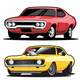 Set of Classic Muscle Cars - GraphicRiver Item for Sale