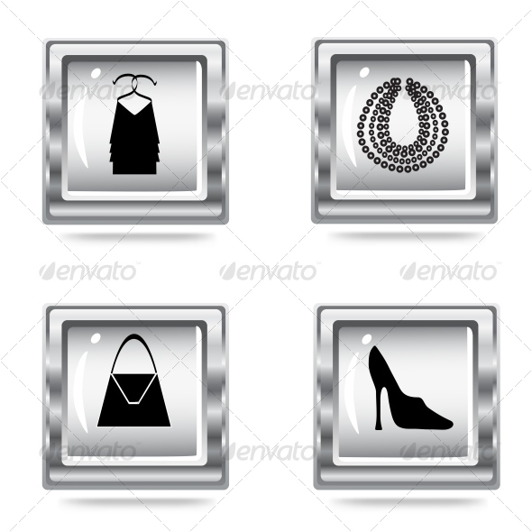 fashion icons set - Commercial / Shopping Conceptual