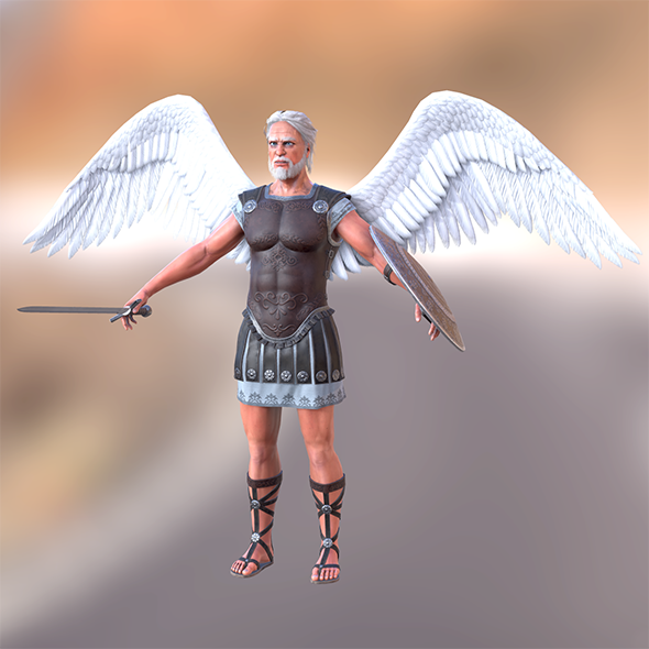 Archangel Old man - 3DOcean Item for Sale