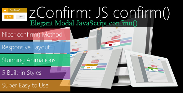 zConfirm: Elegant Modal JavaScript confirm() - CodeCanyon Item for Sale