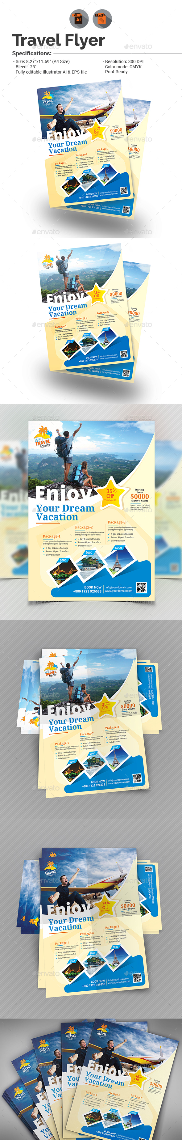 Holiday Travel Flyer - Holidays Events
