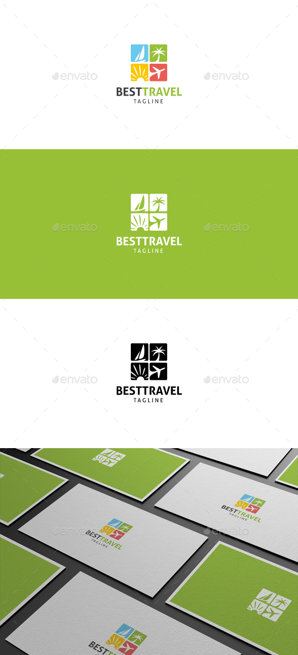 Best Travel Logo by flatos | GraphicRiver