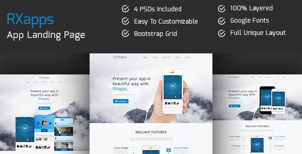 RXapps - App Landing PSD Template - Software Technology