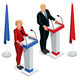 Us Election 2016 Debate Pools Icon Set 03 - GraphicRiver Item for Sale