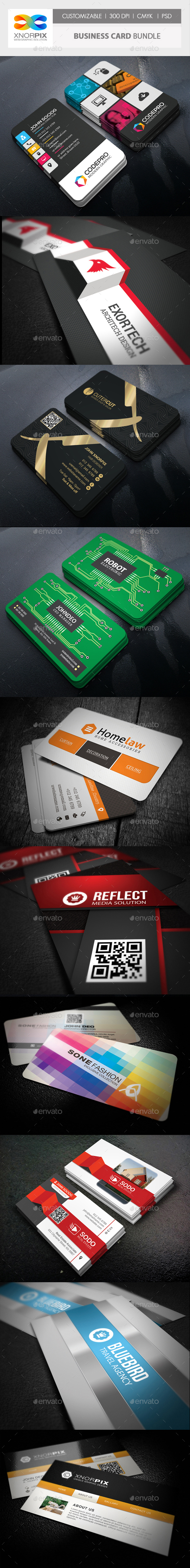 Business Card Bundle 10 in 1 - Corporate Business Cards