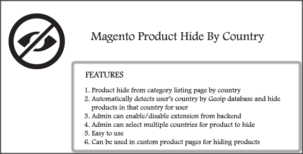 Magento Product Hide By Country - CodeCanyon Item for Sale