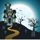 Halloween Background With Tombs, Trees, Bats. - GraphicRiver Item for Sale