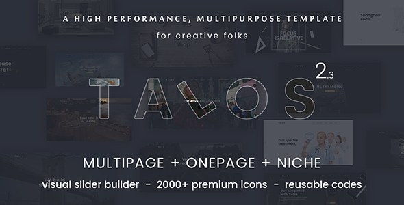 Talos - Creative Multipurpose HTML Template - Creative Site Templates