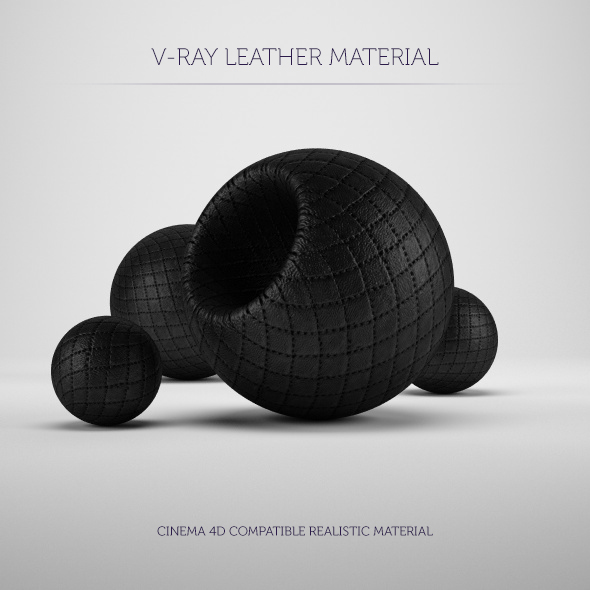 C4D V-Ray Leather Material - 3DOcean Item for Sale