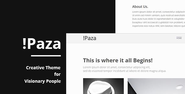 Paza – Minimal Portfolio Theme