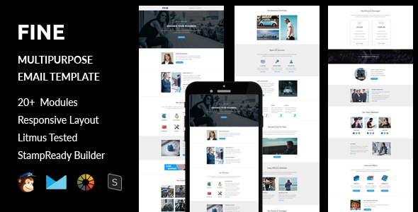 Fine – Multipurpose Responsive Email Template + Stampready Builder