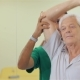 Senior Man Lifts Up The Dumbbell At The Hospital - VideoHive Item for Sale