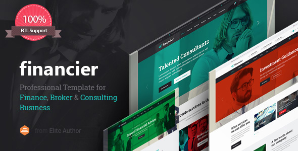 Financier – Finance, Consulting, Broker, Business, Multipurpose WordPress Theme with RTL support