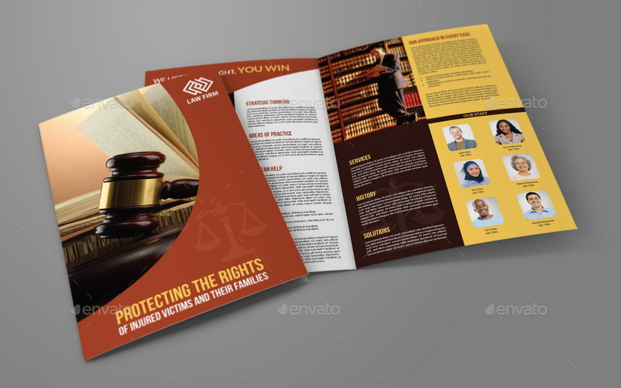 Law firm business advertising bundle by owpictures for Law firm brochure template