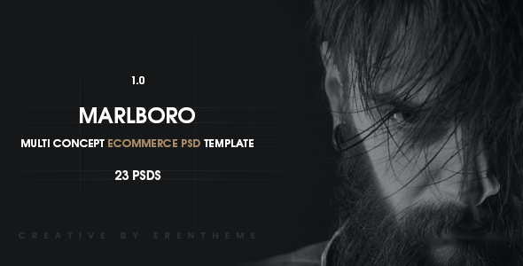 Marlboro - Ecommerce PSD Template - Retail PSD Templates
