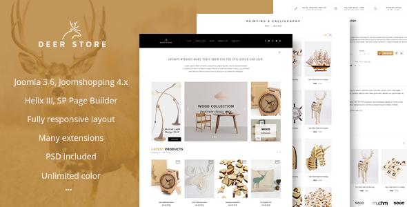 Image of DeerStore - eCommerce Joomla Template